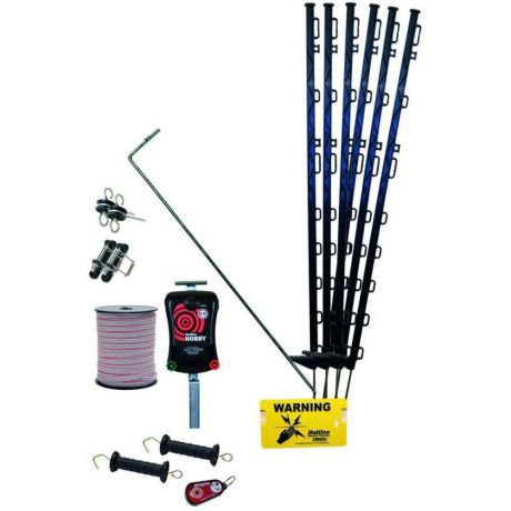 Hotline 47HK450-200 Handy Electric Fence Kit for Horses with Hobby Energiser