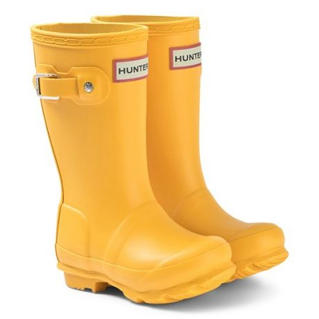 HUNTER Original Kids Wellington Boots Yellow or Navy