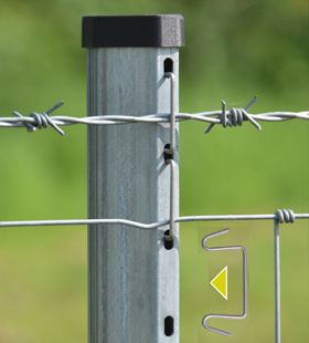 Hampton Steel Wire Fencing System - VERSALOK SYSTEM